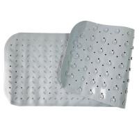 Детский противоскользящий коврик для ванной однотонный 35*95 (серый)