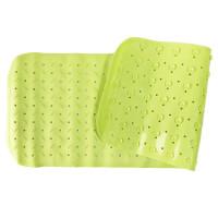 Детский противоскользящий коврик для ванной однотонный 35*95 (Лайм)